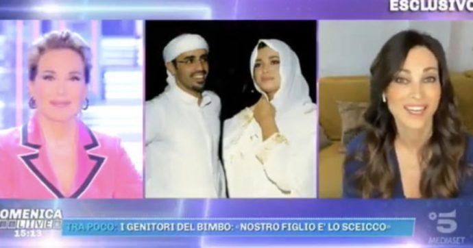 """Mauro Romano, Manuela Arcuri rivela: """"Ho avuto una relazione con lo sceicco Al Habtoor"""". Solo il Dna può svelare se è lui il bimbo rapito"""