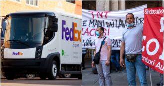 Fedex, contratti al ribasso che cancellano i premi e stabilimenti chiusi dopo gli scioperi. Così le richieste del sindacato di base restano fuori dalle trattative con il big della logistica