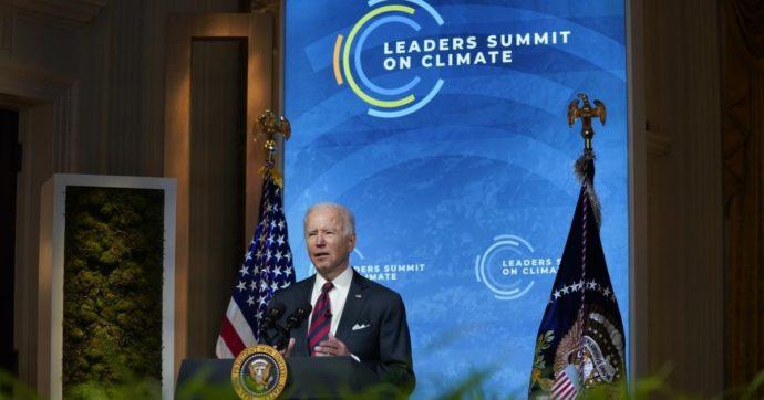"""Summit sul clima, Biden: """"Dobbiamo agire, questo è il decennio decisivo"""". Draghi: """"Ue raggiunga la neutralità climatica per il 2050"""""""