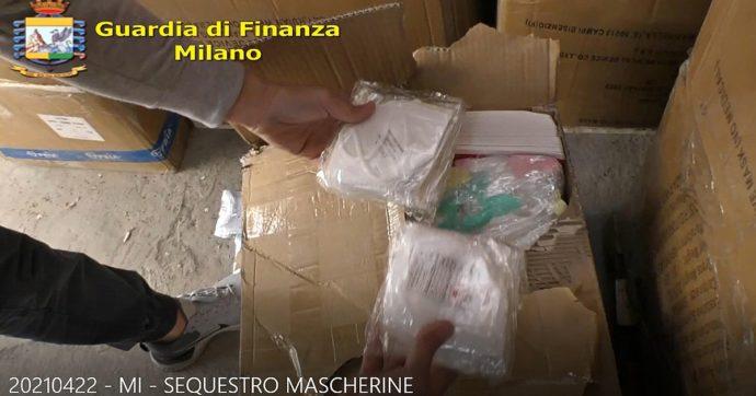 Covid, nullatenente consegnava in Porsche mascherine illegali: 5 milioni di dispositivi sequestrati in un deposito clandestino