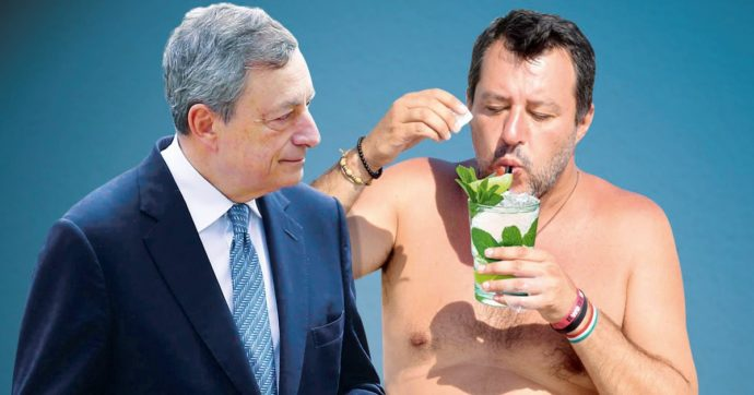In Edicola sul Fatto Quotidiano del 22 Aprile: Draghi ha scoperto chi è Salvini. Lite in cdm