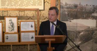 """25 aprile, Draghi: """"Linguaggio d'odio seme di razzismo e antisemitismo. Mala pianta che genera consenso a chi calpesta libertà e diritti"""""""