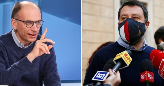 """Maggioranza, alta tensione Letta-Salvini: """"Se dice che non si fanno le riforme, allora esca da questo governo"""""""