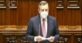 """Piano di ripresa, Draghi al Parlamento: """"Sono certo che lo attueremo. Onestà prevarrà su corruzione, stupidità e interessi costituiti"""""""