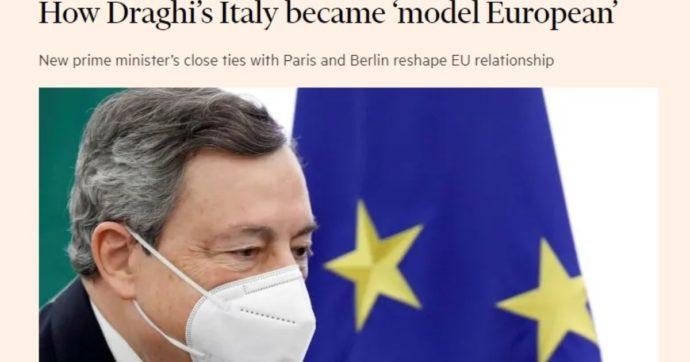 """L'Italia da """"delinquente"""" d'Europa a modello: il Financial Times elogia Mario Draghi, dai vaccini a Erdogan"""