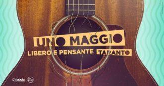 Uno maggio libero e pensante,  all'evento di Taranto niente musica in solidarietà ai lavoratori dello spettacolo. Segui la diretta degli interventi