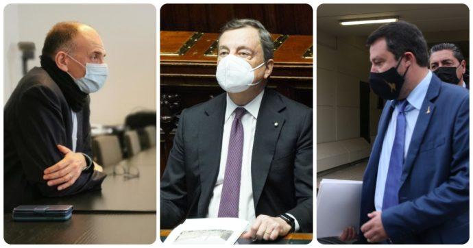 Sondaggi, Draghi: -4 punti in un mese. Quasi tutti i leader di partito in calo, Conte compreso (ma resta primo). Il Pd a un punto dalla Lega