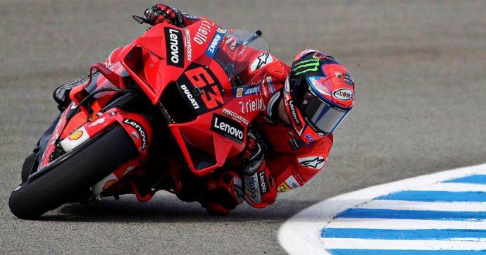 MotoGp, ad Aragon dominio Ducati in qualifica: pole di Bagnaia, secondo Miller