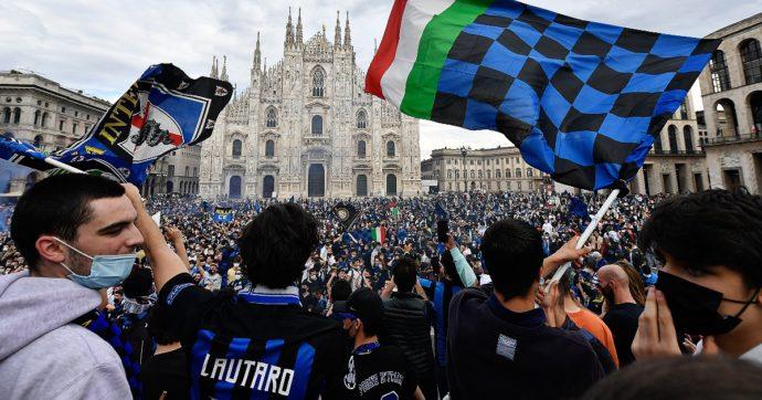 """Festa Inter, ora preoccupano le partite a San Siro dell'8 e del 23 maggio. Sileri: """"In base all'incidenza, in Duomo c'erano 45 positivi"""""""