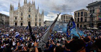 """Festa Inter in Duomo, il timore degli esperti: """"Rischio di un aumento dei contagi"""". Prefetto: """"Chiudere la piazza sarebbe stato peggio"""""""