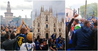 """Scudetto Inter, dal Castello a Piazza Duomo: in migliaia assembrati a Milano. """"Facciamo festa anche senza andare allo stadio"""""""