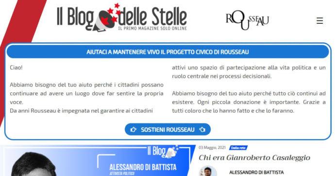 M5s, Rousseau cambia i colori del blog delle Stelle: via il giallo, ora il sito è rosso. E pubblica un post di Alessandro Di Battista