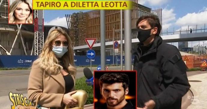 """Striscia la Notizia, Tapiro a Diletta Leotta per il bacio con Ryan Friedkin: """"Un limone si può concedere"""""""