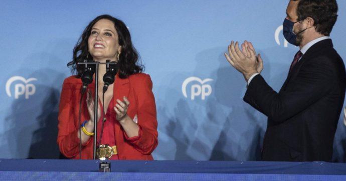Madrid: la destra dei Popolari trionfa col 45%, tonfo dei socialisti. E Iglesias (Podemos) lascia la politica
