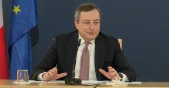 """Draghi: """"Voglio riaprire ma in sicurezza, calcolando bene il rischio. Usiamo la testa"""". E sul turismo: """"Chiesto con forza il green pass"""""""