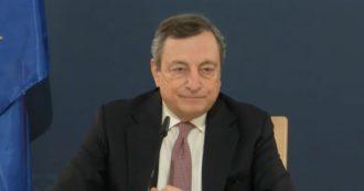 """Vaccini, Draghi: """"Liberalizzare brevetti? Prima rimuovere blocco a esportazione. A big pharma sovvenzioni imponenti, ci si aspetta qualcosa"""""""