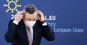 """Brevetti vaccini, Ue aperta alla discussione ma senza entusiasmi. Draghi: """"Posizione Usa da capire. Questione complessa"""""""