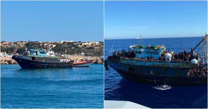 """Lampedusa, quasi 1400 sbarchi in poche ore. Salvini mette pressione a Draghi: """"Serve incontro"""". E Lamorgese chiama il premier"""