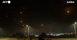 Striscia di Gaza, filmati della notte dei combattimenti: ecco come il sistema di difesa aerea israeliano intercetta i razzi lanciati da Hamas