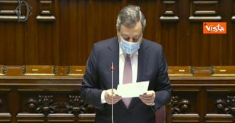 """Camera, Draghi elenca i nomi dei morti sul lavoro dell'ultima settimana: """"Non dobbiamo dimenticare"""". Lungo applauso dall'Aula"""