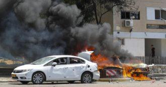 """Scontri in Medio Oriente: più di mille razzi sparati da Gaza, colpito veicolo militare israeliano. Il presidente Rivlin: """"Pogrom a Lod, folla di arabi assetati di sangue"""""""