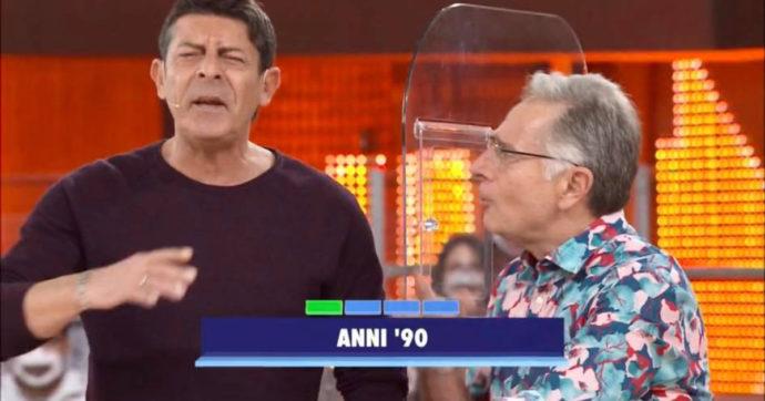 """Avanti un Altro, Paolo Bonolis litiga con Luca Laurenti e lascia lo studio: """"Te devi sta' zitto"""""""
