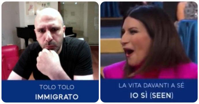 """Checco Zalone a Laura Pausini: """"C'è rimasta male per il David? Le propongo uno scambio"""". Lei replica così"""