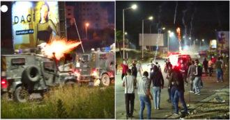 Scontri tra soldati israeliani e manifestanti palestinesi al posto di blocco: tensioni nella notte - Video