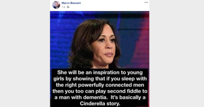 """Milano, sospeso per un mese il prof che aveva condiviso post sessista su Kamala Harris: """"Se vai a letto con l'uomo giusto"""" sarai come lei"""