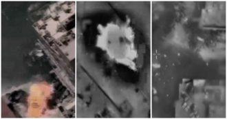 Striscia di Gaza, l'esercito israeliano pubblica i video degli attacchi: colpiti anche un sottomarino e un veicolo - Immagini