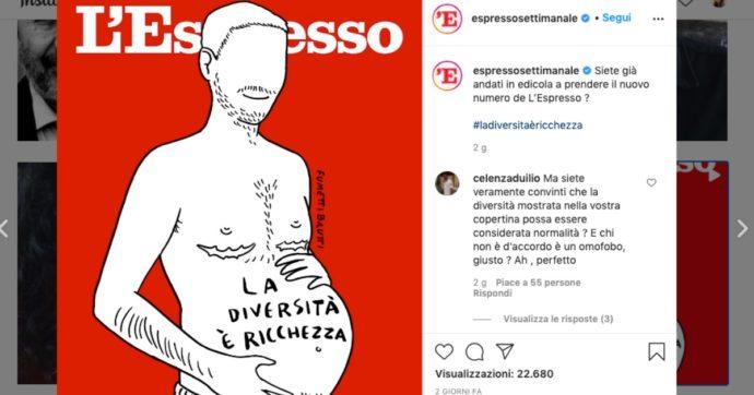 La copertina de l'Espresso e la 'maternità maschile', non so da cosa iniziare per esprimere sgomento