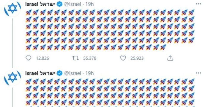 """Israele, valanga di razzi-emoticon sull'account twitter ufficiale: """"Volevano uccidere"""". Utenti attaccano: """"Voi rubate la terra ai palestinesi"""""""