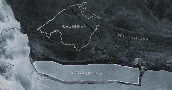 L'iceberg più grande del mondo si è staccato dall'Antartide: è poco più piccolo del Molise e ora galleggia nel Mare di Weddel