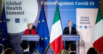 """Global Health Summit, von der Leyen: """"No al nazionalismo sanitario"""". Ma Ue dice no alla liberalizzazione dei brevetti e rimanda tutto al Wto"""