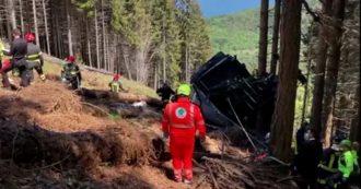 Funivia Stresa-Mottarone, immagini della cabina distrutta e prime operazioni di soccorso