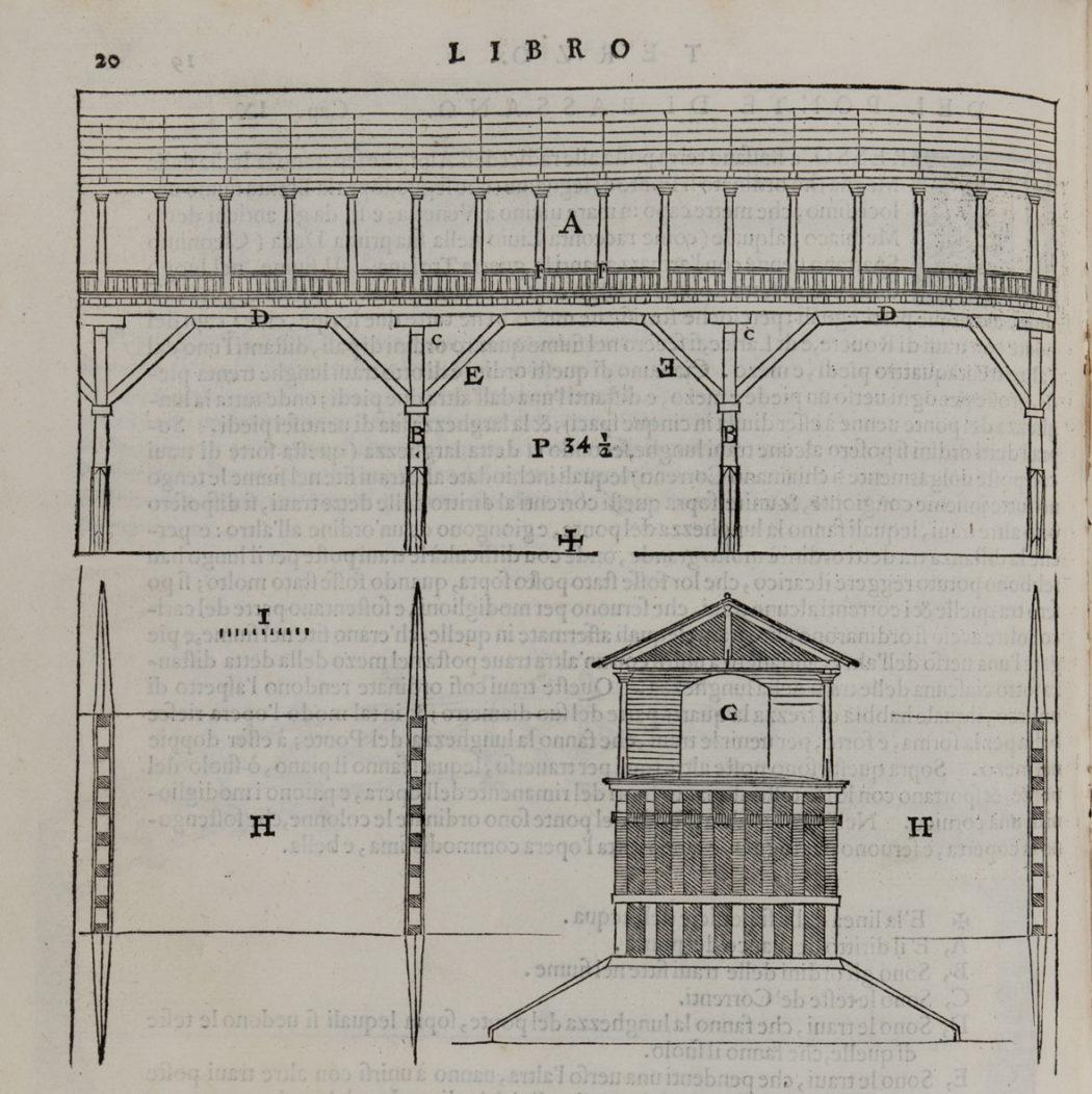 1- Andrea Palladio, I Quattro libri dell'Architettura di Andrea Palladio, Venezia, 1570 Appartenuto ad Antonio Canova Biblioteca Civica, Bassano del Grappa