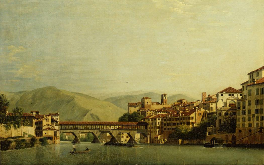 2- Roberto Roberti, Il Ponte di Bassano, 1807, Olio su tela, 845×530 mm. Museo Civico, Bassano del Grappa