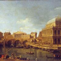 5- Antonio Canaletto, Capriccio con edifici palladiani, 1750 ca. Olio su tela, 580×820 mm. Complesso monumentale della Pilotta, Parma