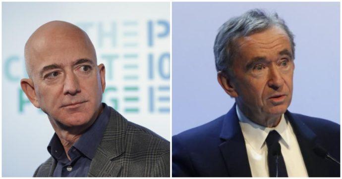 Bernard Arnault diventa l'uomo più ricco del mondo ma l'impresa dura poco: così Jeff Bezos si è ripreso lo scettro