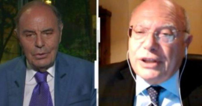 """Cartabianca, Massimo Galli torna in tv e Bruno Vespa va all'attacco: """"Lei è il Davigo dei virologi, non esistono persone sane"""""""