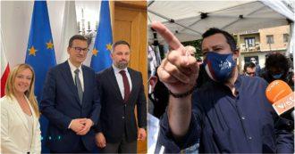 Salvini-Meloni, la lotta per la leadership della destra ora si sposta in Europa. La Lega vuole un maxi gruppo al Parlamento Ue. No di FI