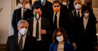 """Salvini preme per il partito unico di Lega e Fi, no di Toti e Gelmini. Tajani: """"Nessuna fusione ma un migliore raccordo"""""""