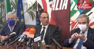 """Il salto triplo di De Vito da M5s a Forza Italia: """"Giravolta? No, sempre stata la mia area politica"""". L'annuncio tra Gasparri e Tajani – Video"""