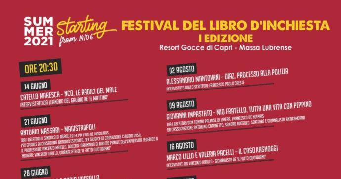 Massa Lubrense, nasce il Festival del Libro d'Inchiesta. La prima edizione dal 14 giugno al 30 agosto