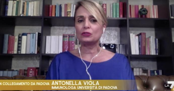"""Otto e Mezzo, l'immunologa Antonella Viola si commuove: """"La seconda dose di Astrazeneca non va fatta"""""""