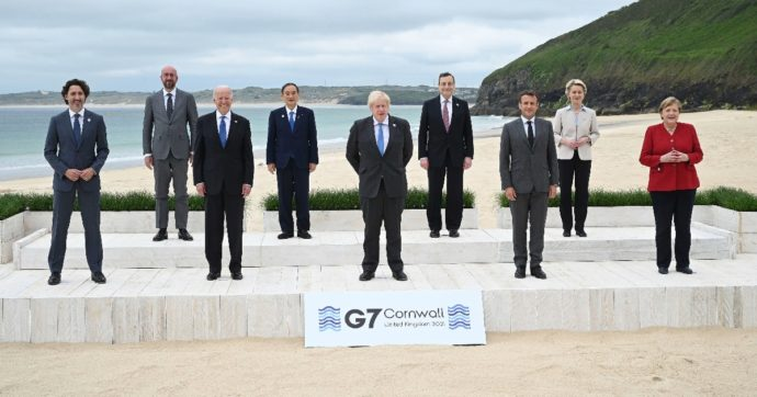 """Il G7 risponde alla Cina: un piano globale di infrastrutture per i Paesi poveri. Draghi: """"Serve un'Oms più forte contro le pandemie"""""""