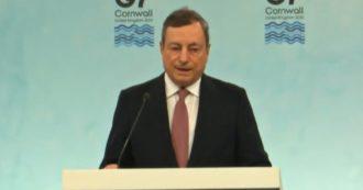 """G7, Draghi: """"Cina è autocrazia che non aderisce alle regole multilaterali, non condivide la stessa visione del mondo delle democrazie"""""""