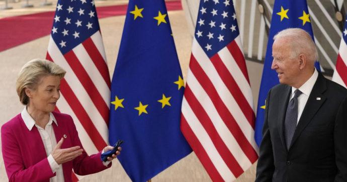 """Stati Uniti e Ue, accordo sui dazi a 17 anni da caso Airbus-Boeing. Von der Leyen: """"Risolta la controversia più lunga nella storia del Wto"""""""
