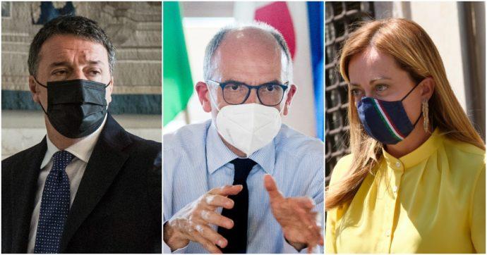 """Sondaggi, """"Giorgia Meloni è più apprezzata di Matteo Renzi tra gli elettori del Pd. E Mario Draghi piace più del segretario Enrico Letta"""""""