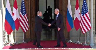 La stretta di mano tra Putin e Biden dà il via al vertice di Ginevra: il saluto tra i due presidenti – Video